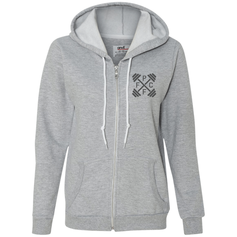 Embroidered Anvil Ladies Full-Zip Hooded Fleece