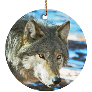 Ceramic Circle Ornament, Kekoa by water