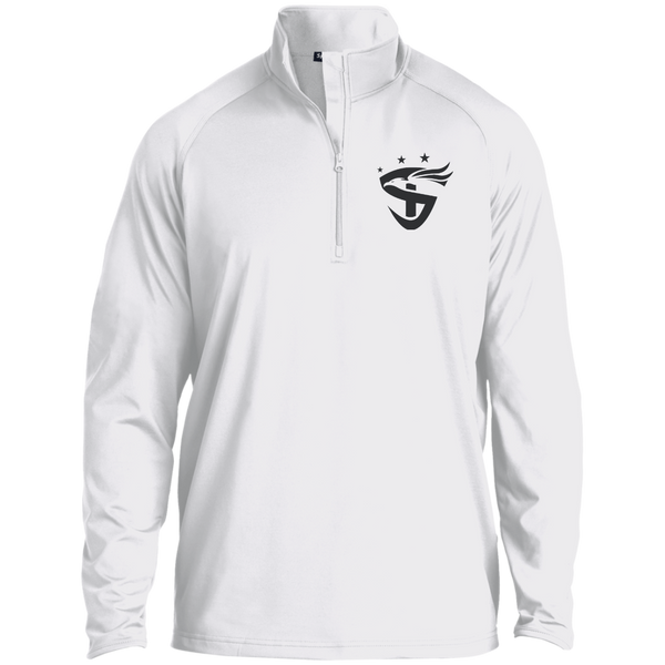 Embroidered 1/2 Zip Raglan Performance Pullover