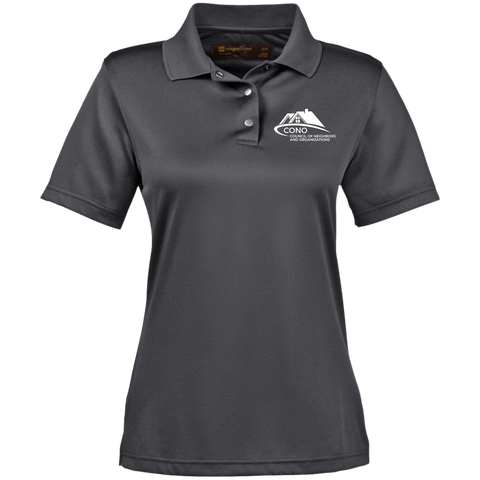 M345W Harriton Ladies' Snap Placket Performance Polo