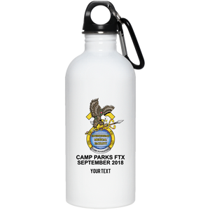 001G AUTHORIZED AT EXERCISE --PERSONALIZE WITH YOUR NAME Stainless Steel Water Bottle