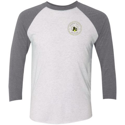 NL6051 Next Level Tri-Blend 3/4 Sleeve Baseball Raglan T-Shirt
