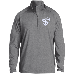 1/2 Zip  Embroidered Raglan Performance Pullover