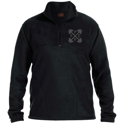 Embroidered Harriton 1/4 Zip Fleece Pullover
