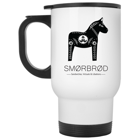 Smorbrod White Travel Mug