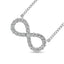 10k White Gold Diamond 1/2 CT.TW. Infinity Pendant