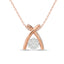 Diamond Fashion Pendant 1/10 CT TW In 10k Rose Gold