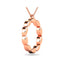 Diamond 1/10 CT TW Fashion Pendant In 10K Rose Gold