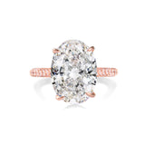 Balacia:5 Carat Rose Gold Oval Engagement Ring