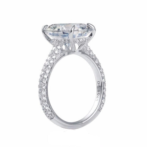 Balacia:5 Carat Oval Engagement Ring