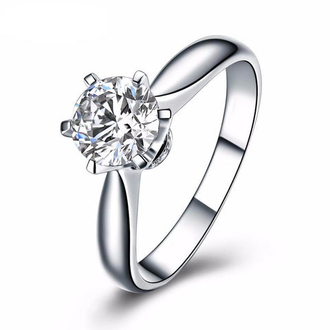 Balacia:1 Carat Six Prong Engagement Ring