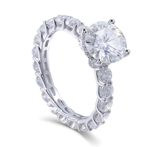 Balacia:14k Moissanite 2 Carat Eternity Ring