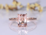 Balacia:14k Rose Gold Engagement Ring