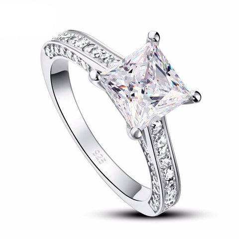 Balacia:1.5 Carat Princess Cut Engagement Ring