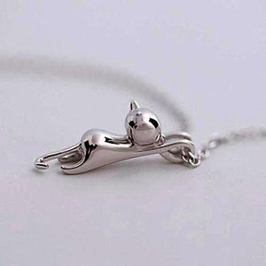 Free Over Stock Item! Silver Cat Pendants Necklaces For Women Maxi Necklace - FREE PLUS SHIPPING!