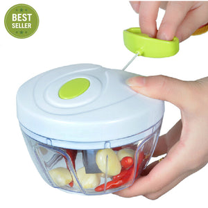 Pull-cord Food Chopper Fruit Vegetable Dicer Garlic Ginger Cutter Kitchen Gadgets Cooking Tools