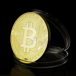 Collectible Bitcoin Gold Plated Bronze, Physical Collection Bitcoin - Limited Edition!