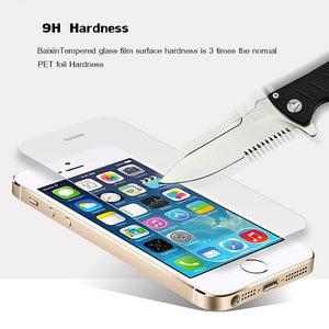 9H Tempered Glass For Iphone X 8 4s 5 5s 5c SE 6 6s plus 7 Plus Screen Protector Protective Guard!