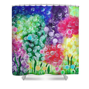Fluffy Flowers - Shower Curtain