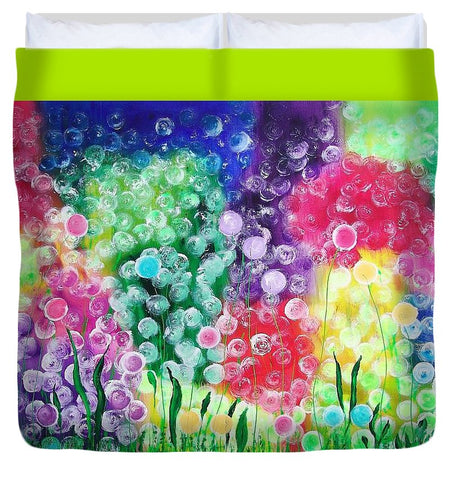 Fluffy Flowers - Duvet Cover