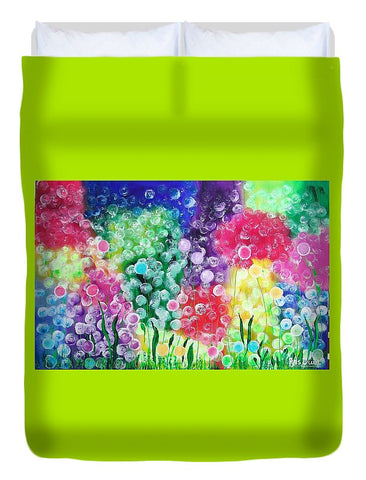 Image of Fluffy Flowers - Duvet Cover