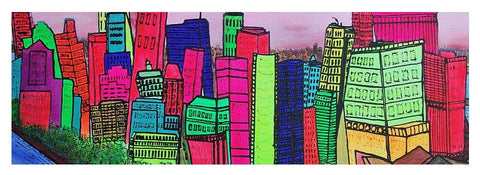 New York Manhattan - Yoga Mat