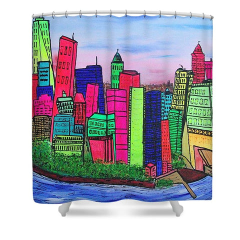 New York Manhattan - Shower Curtain