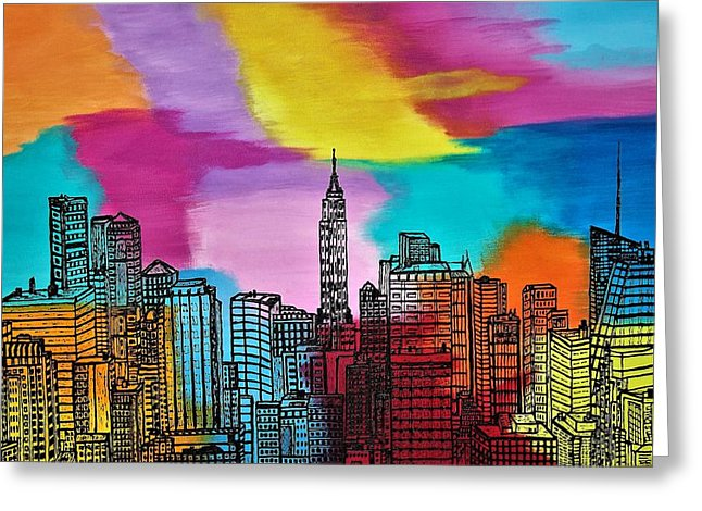 View On New York - Greeting Card