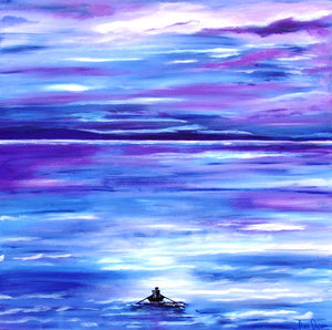 Painting: Rowing home! us by Ans Duin - SOLD