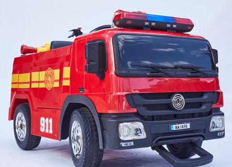 Image of Firetruck / Police Car - Ride on cars for kids