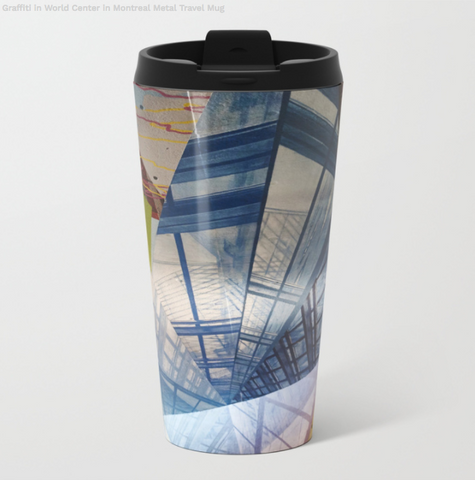 Image de tasses de voyage en métal - Graffiti World Trade Center - 15 Oz - Tasses de voyage en métal
