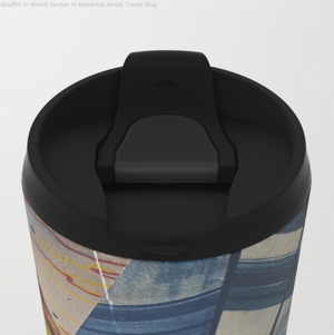 Mugs de voyage en métal - Graffiti du World Trade Center - 15 Oz
