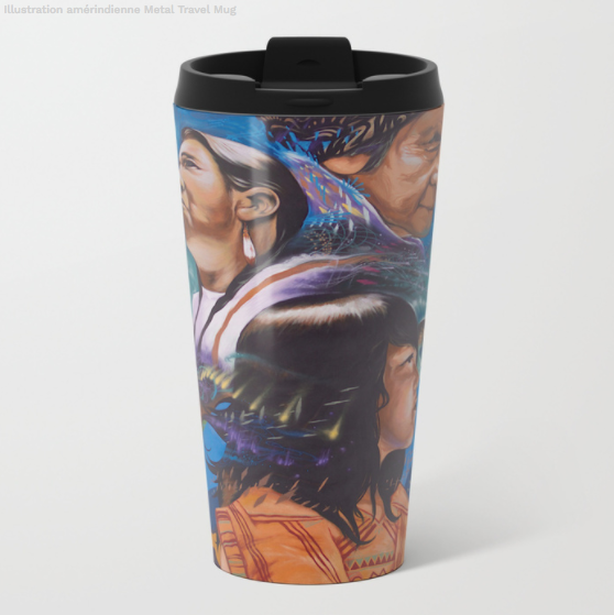 Metal Travel Mugs - aboriginal peoples - 15 Oz