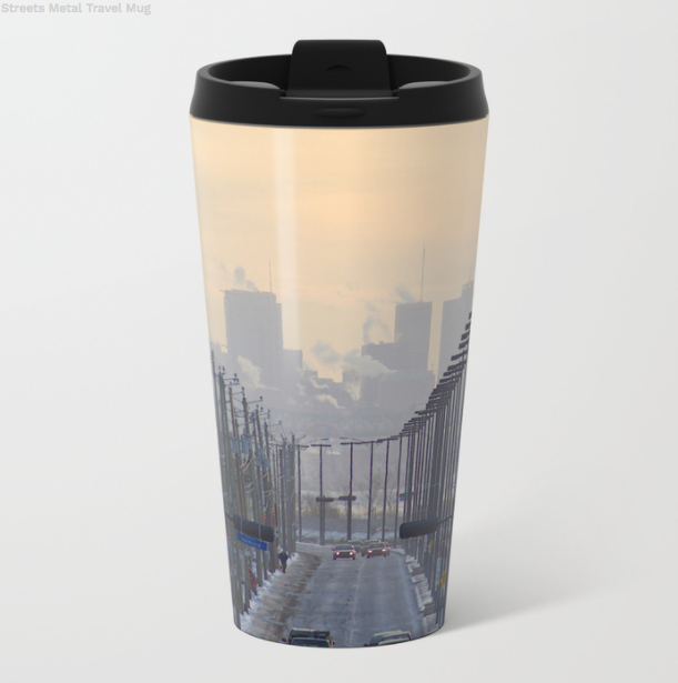 Metal Travel Mugs - Montreal In Winter - 15 Oz - Metal Travel Mugs