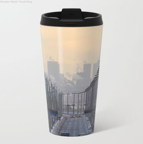 Image of Metal Travel Mugs - Montreal In Winter - 15 Oz - Metal Travel Mugs