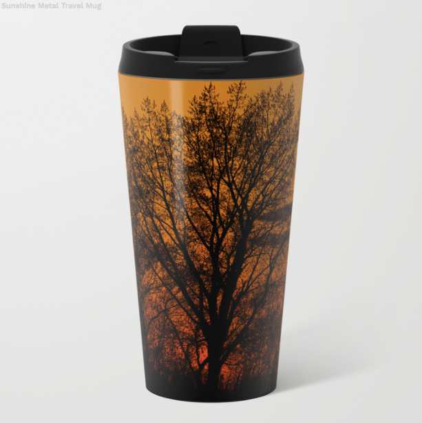 Metal Travel Mugs - Sunshine In Winter - 15 Oz - Metal Travel Mugs