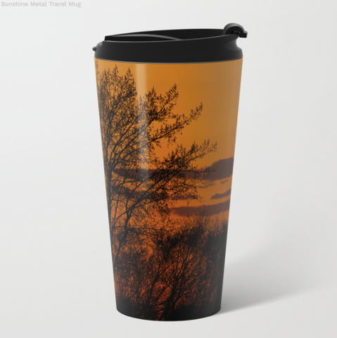 Image of Metal Travel Mugs - Sunshine In Winter - 15 Oz - Metal Travel Mugs