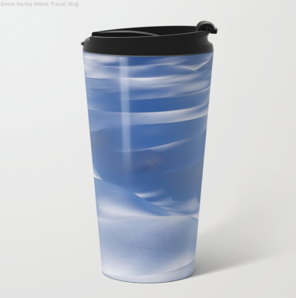 Metal Travel Mugs - Snow Banks - St Élie De Caxton - 15 Oz - Metal Travel Mugs