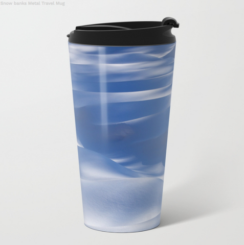 Image of Metal Travel Mugs - Snow Banks - St Élie De Caxton - 15 Oz - Metal Travel Mugs