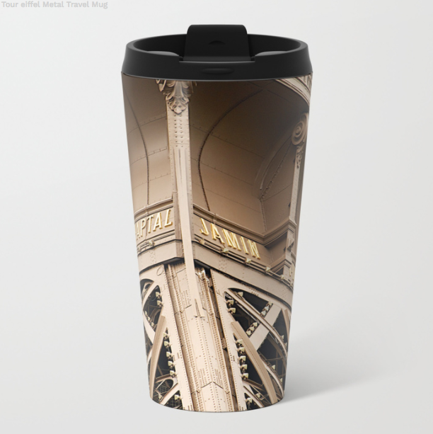 Metal Travel Mugs - Eiffel Tower In Paris - 15 Oz - Metal Travel Mugs