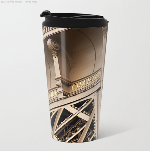 Image of Metal Travel Mugs - Eiffel Tower In Paris - 15 Oz - Metal Travel Mugs