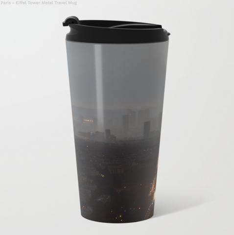 Image of Metal Travel Mugs - The Eiffel Tower in Paris - 15 Oz