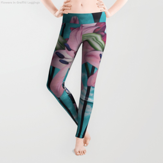 Leggings - Big Flowers - Leggings