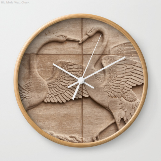 Wall clock - Big birds on the wall