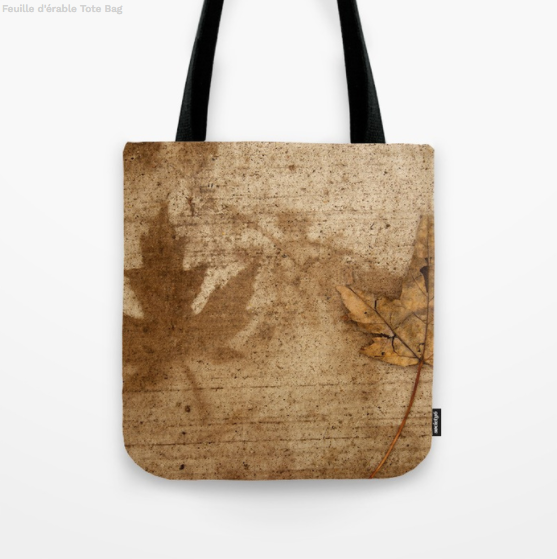 Tote Bag - Maple leafs on the sidewalk in Canada