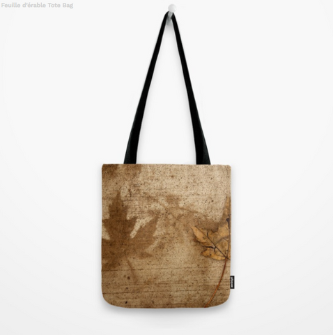 Image of Tote Bag - Maple Leafs On The Sidewalk In Canada - Tote Bag