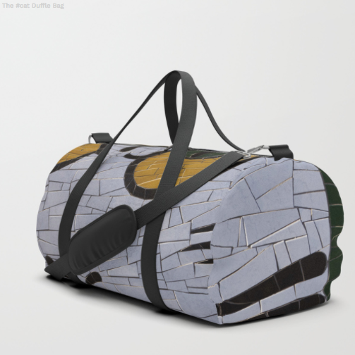 Duffle Bag - Mosaic on a wall
