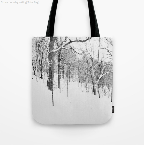 Tote Bag - Forest In Black & White - Tote Bag