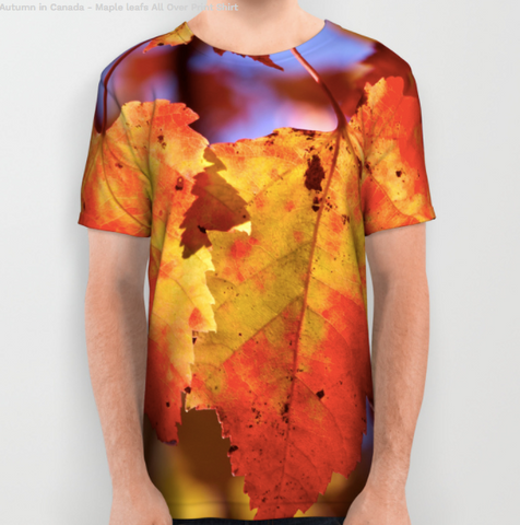 Image of Tshirt - Maple Leaf In Canada - Tshirt