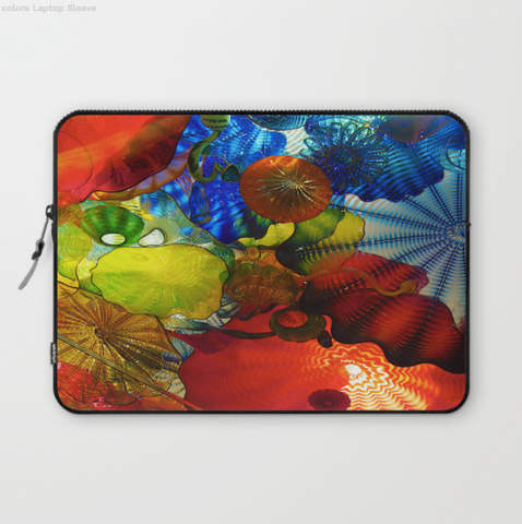 Image of Laptop Sleeve - Glass Colours Of Dale Chihuly - Laptopsleeve
